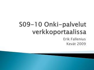 S09-10  Onki-palvelut verkkoportaalissa