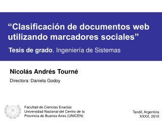 """""""Clasificación de documentos web utilizando marcadores sociales"""""""