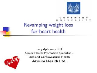 Revamping weight loss  for heart health