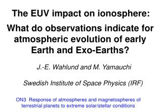 The EUV impact on ionosphere: