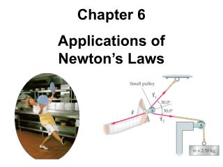 Chapter 6 Applications of Newton's Laws