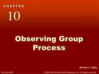 Observing Group Process