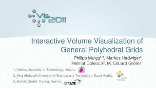 Interactive Volume Visualization of General Polyhedral Grids