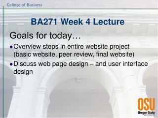 BA271 Week 4 Lecture
