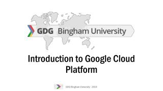 Introduction to Google Cloud Platform