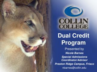 Dual Credit Program