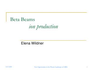 Beta Beams  ion production