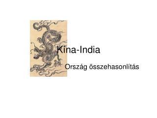 Kína-India