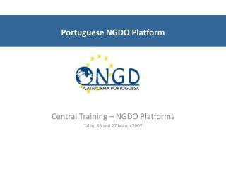 Portuguese NGDO Platform