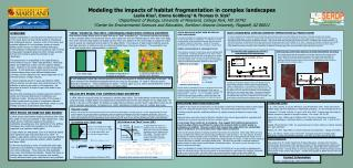 Modeling the impacts of habitat fragmentation in complex landscapes