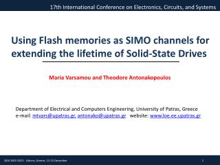 Using Flash memories as SIMO channels for extending the lifetime of Solid-State Drives