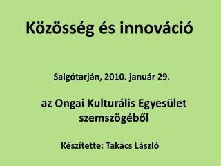 Közösség és innováció