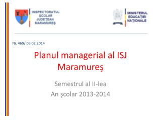 Planul managerial al  ISJ Maramureş