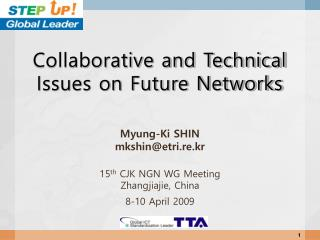 Collaborative and Technical Issues on Future Networks