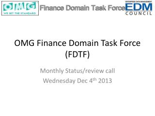 OMG Finance Domain Task Force (FDTF)