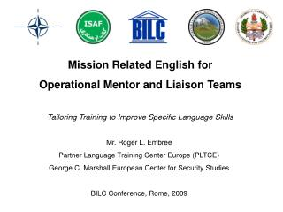 Mission Related English for  Operational Mentor and Liaison Teams