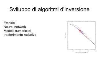 Sviluppo di algoritmi d'inversione