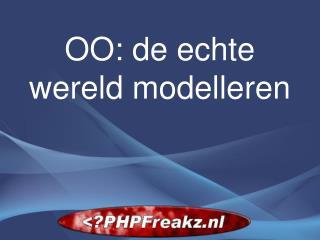 OO: de echte wereld modelleren