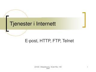 Tjenester i Internett