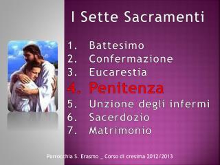 Battesimo Confermazione Eucarestia Penitenza Unzione degli infermi Sacerdozio Matrimonio