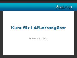 Kurs för LAN-arrangörer