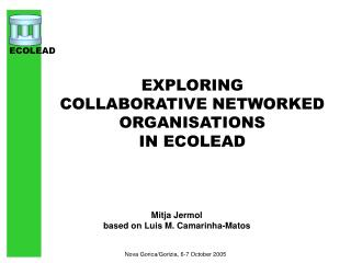 EXPLORING  COLLABORATIVE NETWORKED ORGANISATIONS  IN ECOLEAD