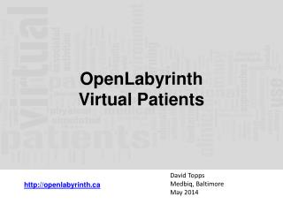 OpenLabyrinth  Virtual Patients