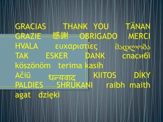 Nosotras… NATALIA ARAYA, ISABELLA CELLE y DANIELA CIFUENTES Queremos agradecer a ustedes por…