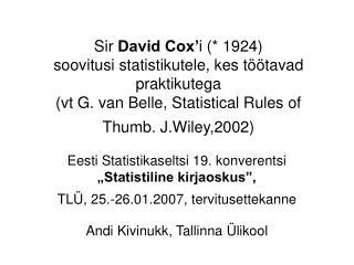 """Eesti Statistikaseltsi 19. konverentsi  """"Statistiline kirjaoskus"""","""
