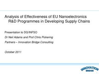 Analysis of Effectiveness of EU Nanoelectronics R&D Programmes in Developing Supply Chains