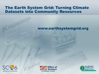 The Earth System Grid: Turning Climate Datasets into Community Resources