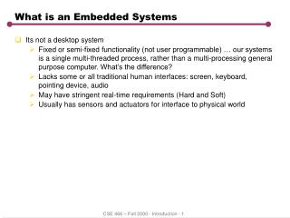 What is an Embedded Systems