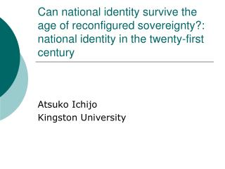 Atsuko Ichijo Kingston University