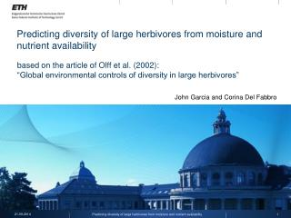 Predicting diversity of large herbivores from moisture and nutrient availability