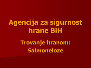 Agencija za sigurnost hrane BiH