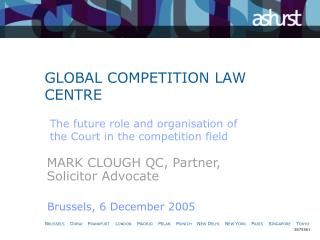 GLOBAL COMPETITION LAW CENTRE