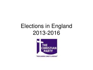 Elections in England  2013-2016