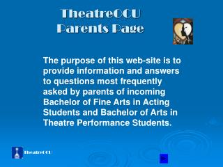 TheatreOCU Parents Page