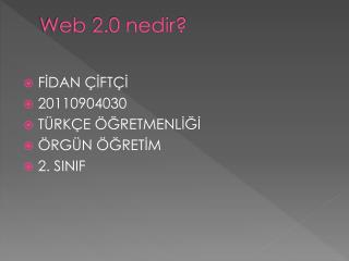Web 2.0 nedir?