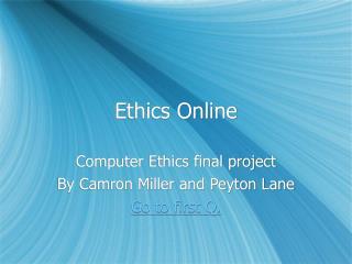 Ethics Online