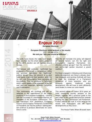 Enjeux 2014