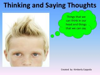 Thinking and Saying Thoughts