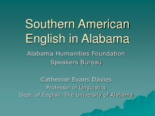 Southern American English in Alabama