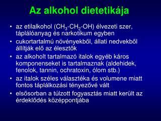 Az alkohol dietetikája