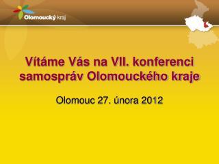 Vítáme Vás na VII. konferenci samospráv Olomouckého kraje