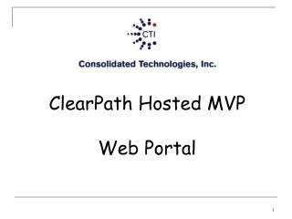 ClearPath Hosted MVP Web Portal