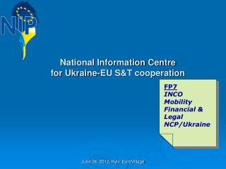 National Information Centre  for Ukraine-EU S&T cooperation