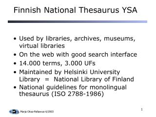 Finnish National Thesaurus YSA