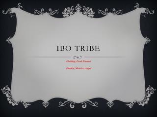 Ibo Tribe