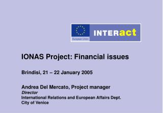 IONAS Project - Guidelines for Financial Reporting
